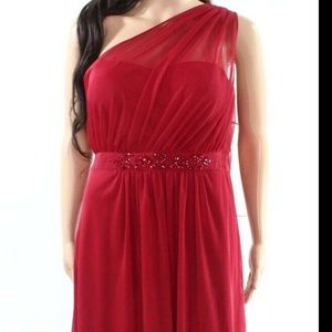 Adrianna Papell stretchy embellished cherry dress